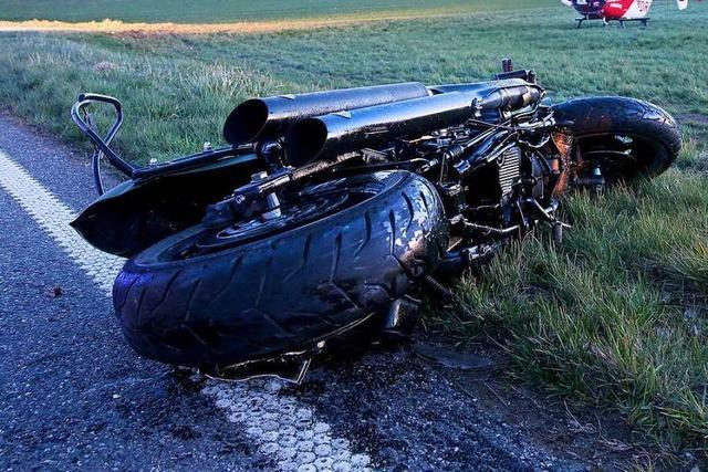 Motorradfahrer stirbt nach Unfall auf der Landstraße bei Sehringen