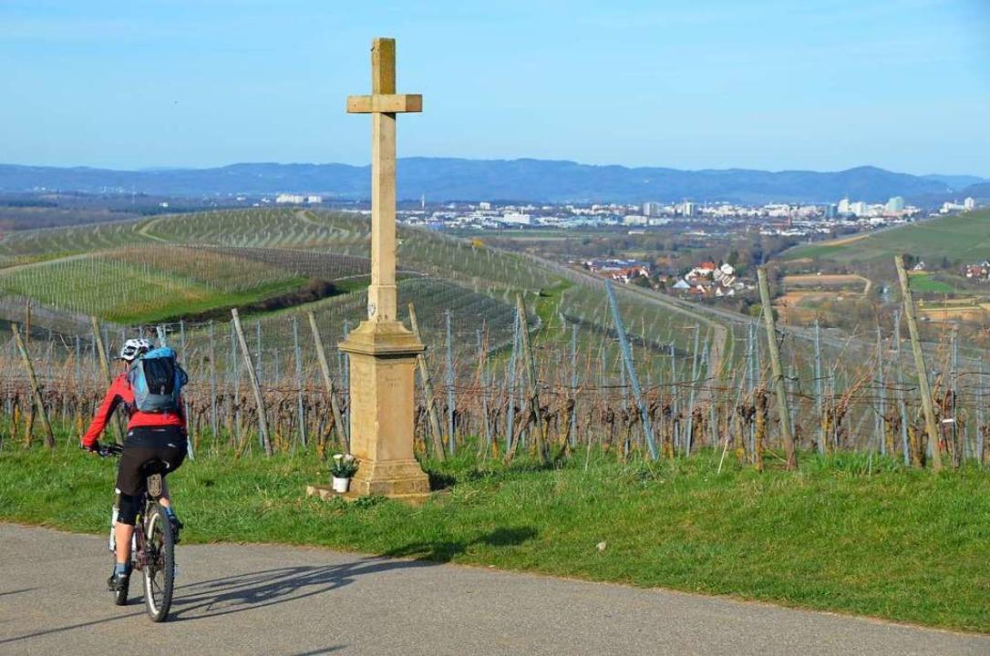 Radeln mit Weitblick: Aussicht auf Freiburg vom Batzenberg  | Foto: Anita Fertl