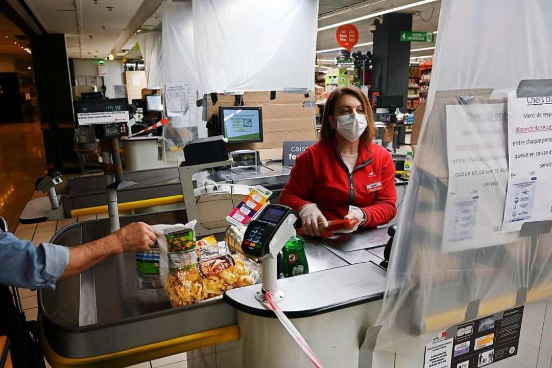 Ein Supermarkt in Straßburg  | Foto: FREDERICK FLORIN (AFP)