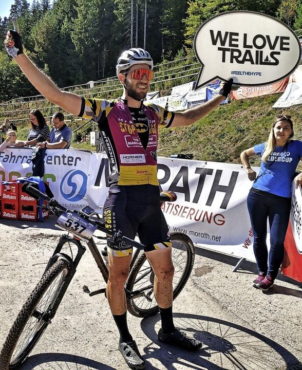 Matthias Bettinger im Ziel des Trail H...e-Veranstaltung  in Titisee-Neustadt.   | Foto: privat