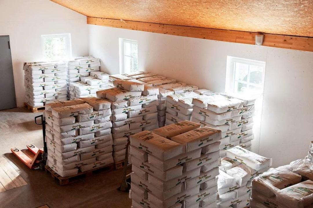 Das Mehllager der Blattert-Mühle wird kontinuierlich wieder gefüllt.    Foto: Blattert-Mühle Bonndorf