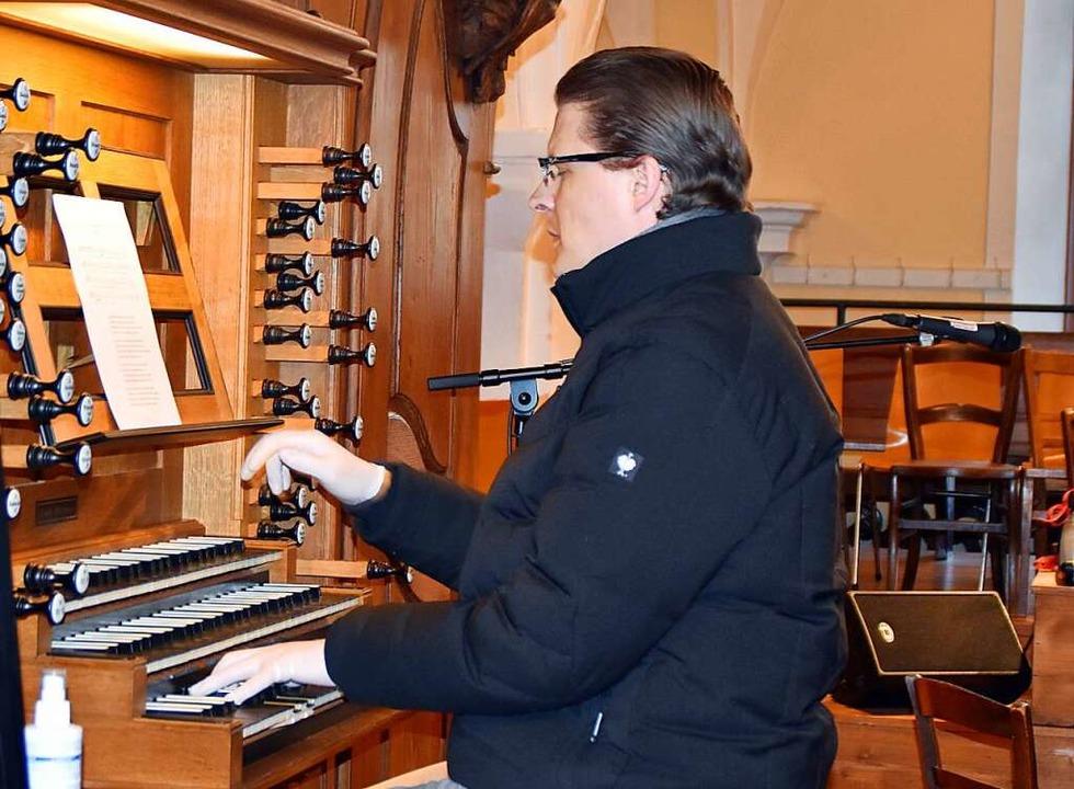 An der Orgel musizierte Kirchenmusiker Felix Ketterer.  | Foto: Barbara Puppe