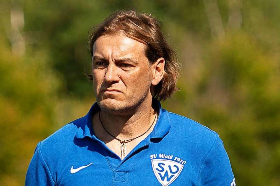Andreas Schepperle, Trainer des SV Weil    Foto: KREIENKAMP