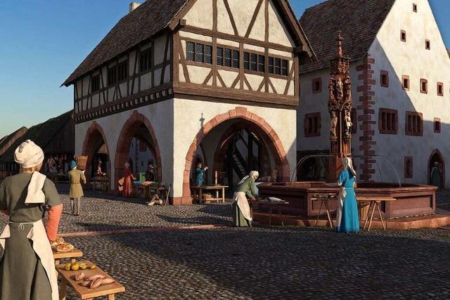 So könnte die Freiburger Stadtmitte um das Jahr 1500 ausgesehen haben
