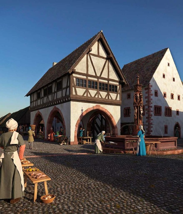 So könnte die Ecke der heutigen Kaiser...s) um das Jahr 1500 ausgesehen haben.     Foto: Ralph Eggers