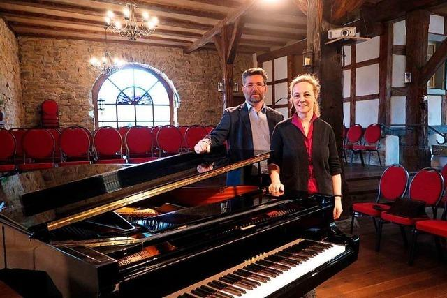 Seit 2012 gibt es im Gutshof Güntert Klaviermusik – derzeit ist es aber still