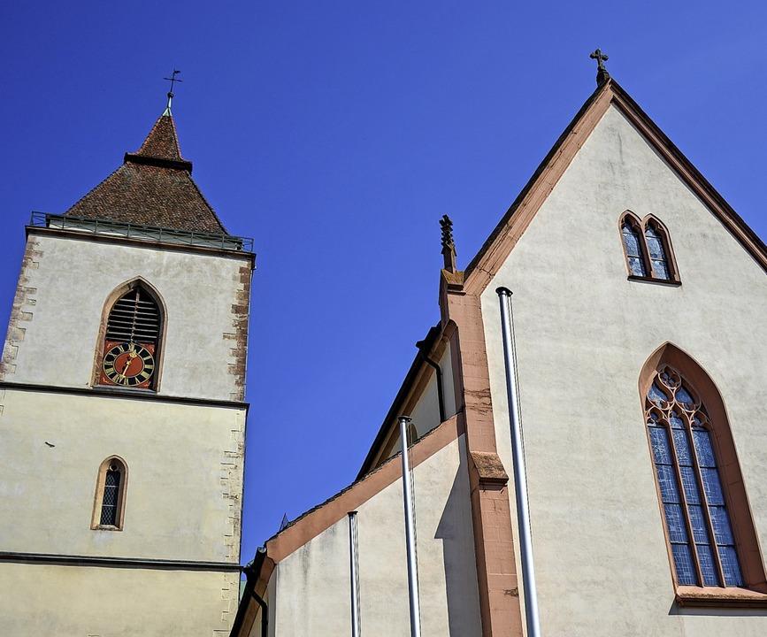 Die Pfarrkirche St. Martin in Staufen wird zu Ostern besonders geschmückt.     Foto: Gabriele Hennicke