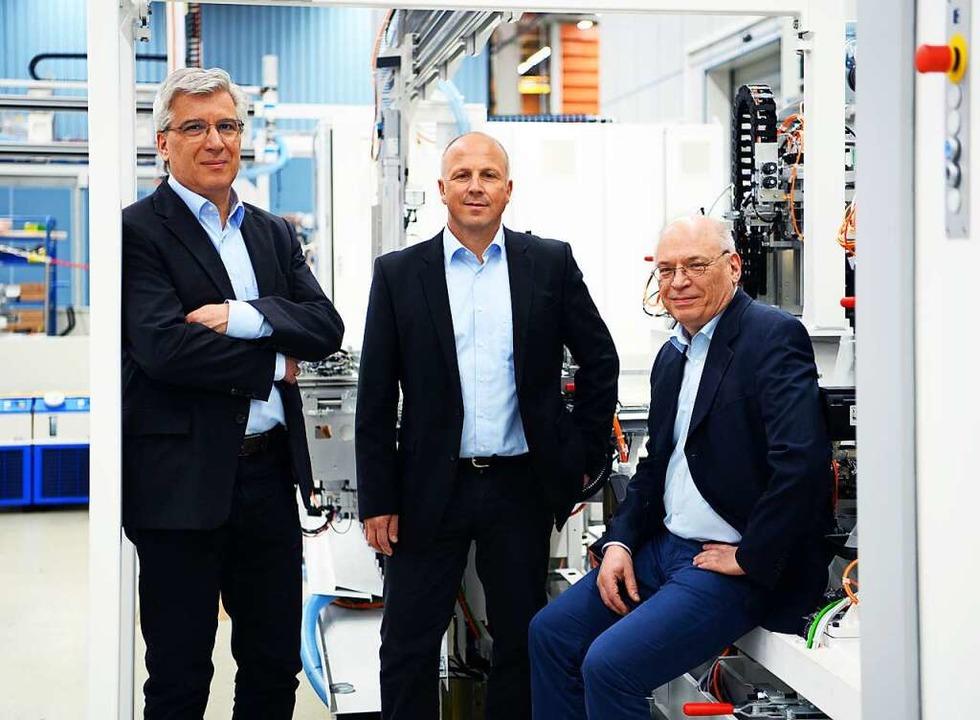 Die Geschäftsführer Winfried Ebner, Ge...nner und Ulrich Zahoransky (von links)  | Foto: Privat Zahoransky
