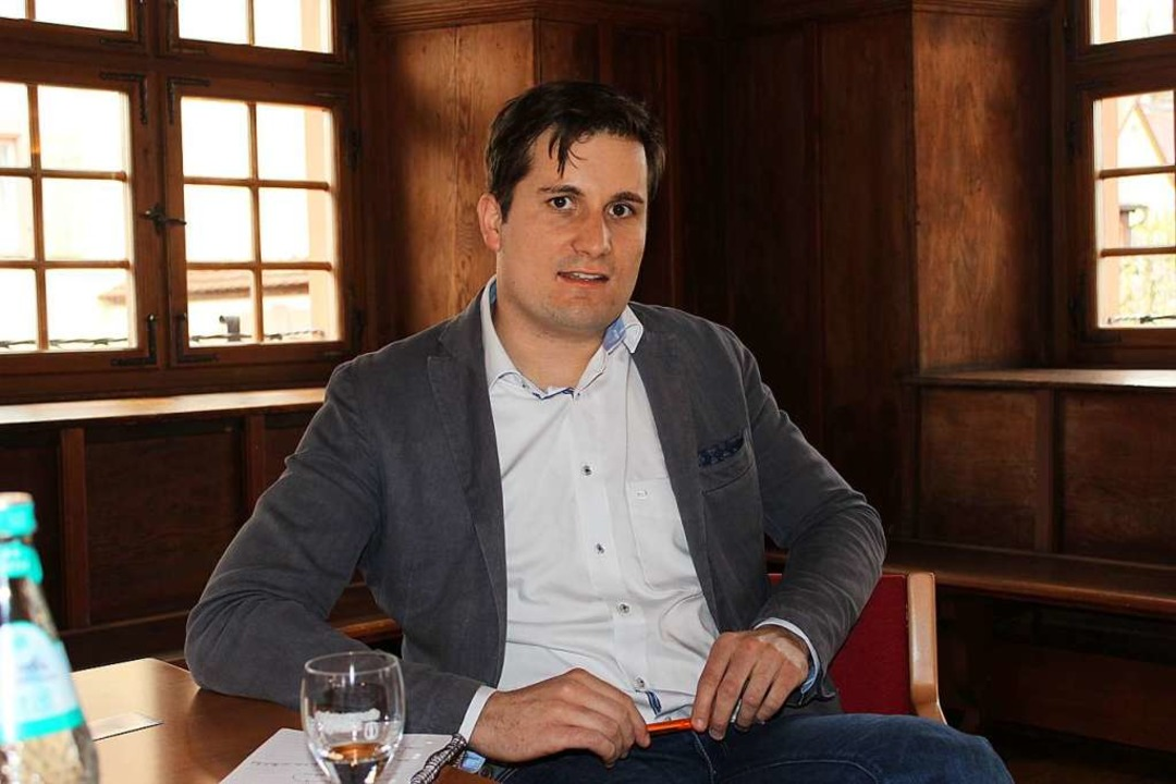 Merdingens Bürgermeister Martin Rupp w...aten zu Corona auch auf Gemeindeebene.  | Foto: Mario Schöneberg