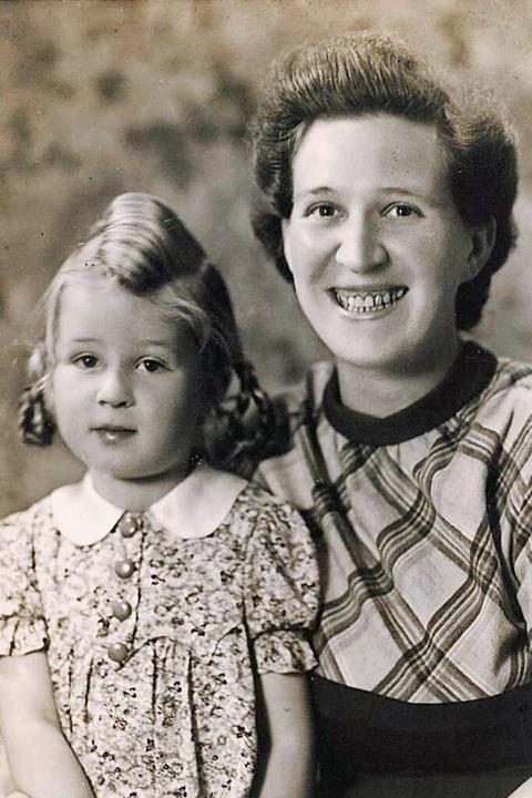 Anneliese Rösch  und Mutter Anna Panzer  | Foto: Annemarie Rösch