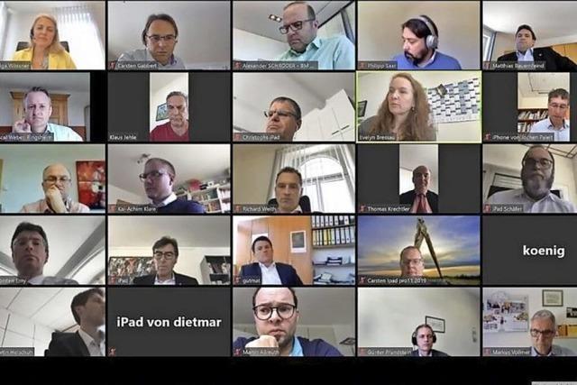 Die Bürgermeister konferieren virtuell