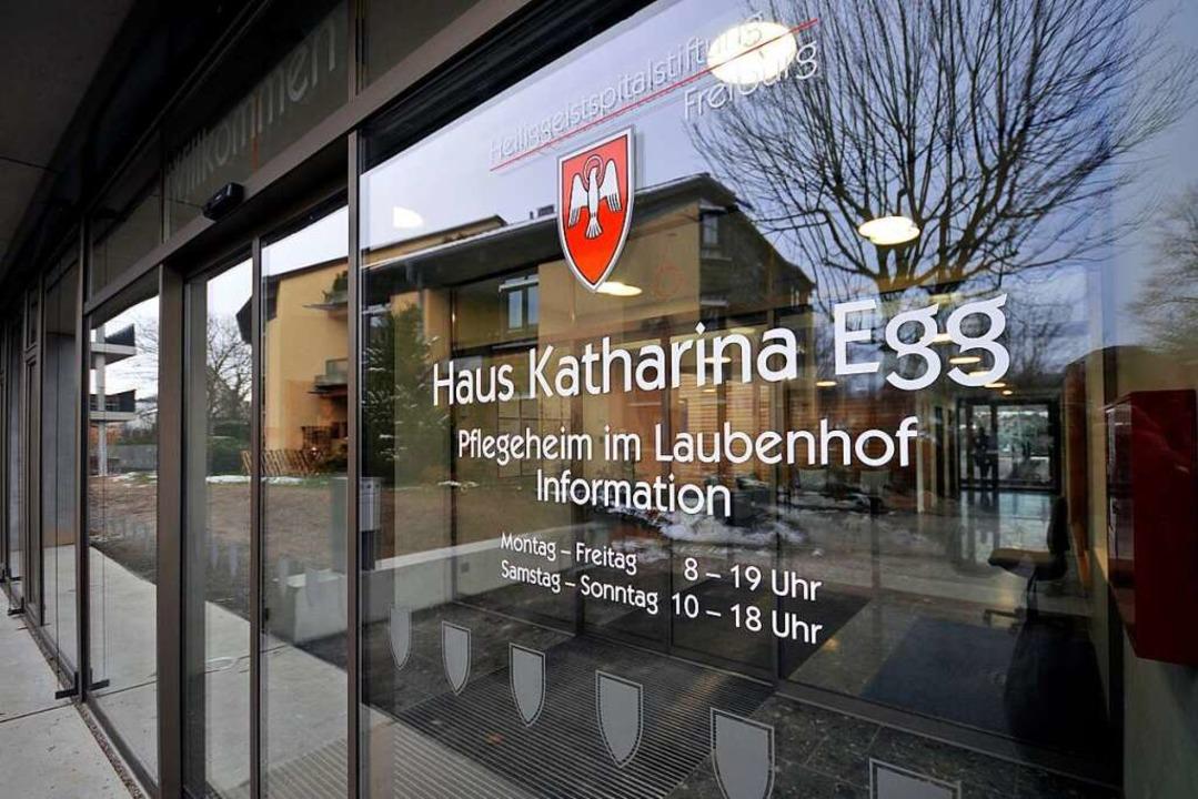 Im Pflegeheim Haus Katharina Egg der S... dem neuartigen Coronavirus infiziert.  | Foto: Ingo Schneider