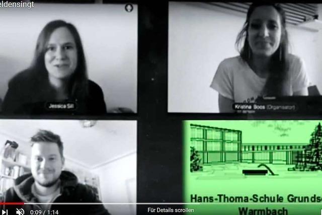 Mit einem Lied will eine Rheinfelder Lehrerin Gemeinschaft schaffen
