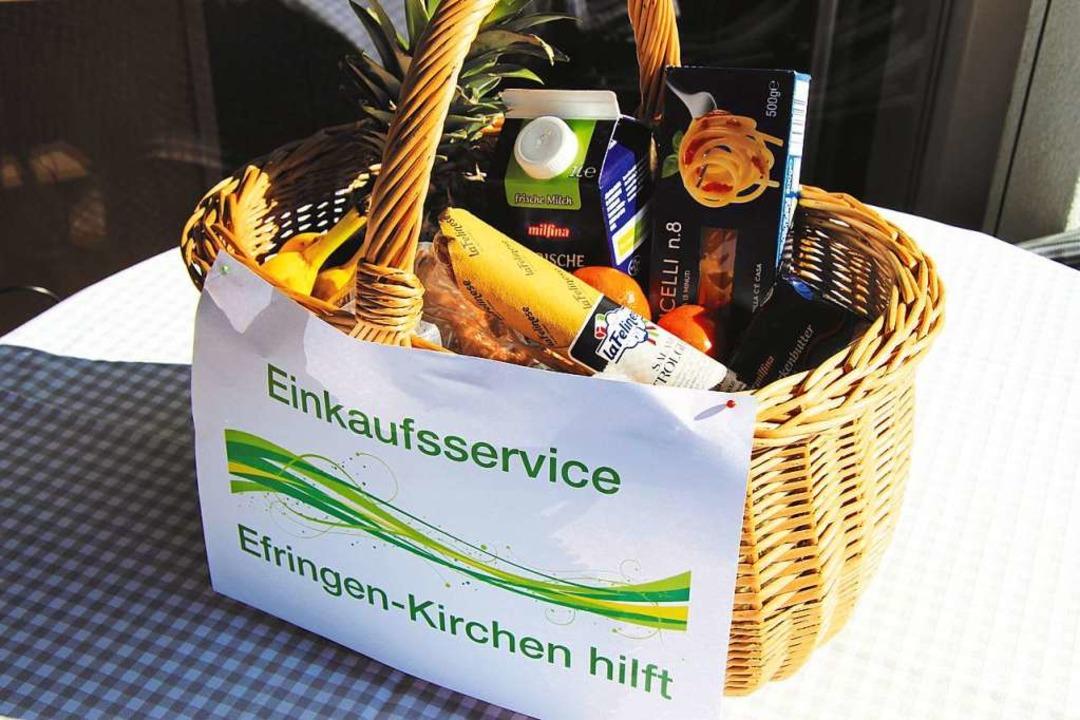 Toller Service in der Gemeinde Efringe...er kaufen für Senioren und Kranke ein.  | Foto: Christiane Breuer
