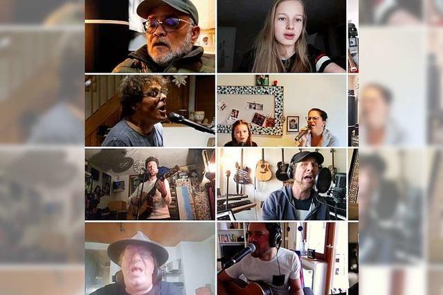 70 Musikerinnen und Musiker aus 10 Ländern machen gemeinsam Mut mit einem Lahrer Song