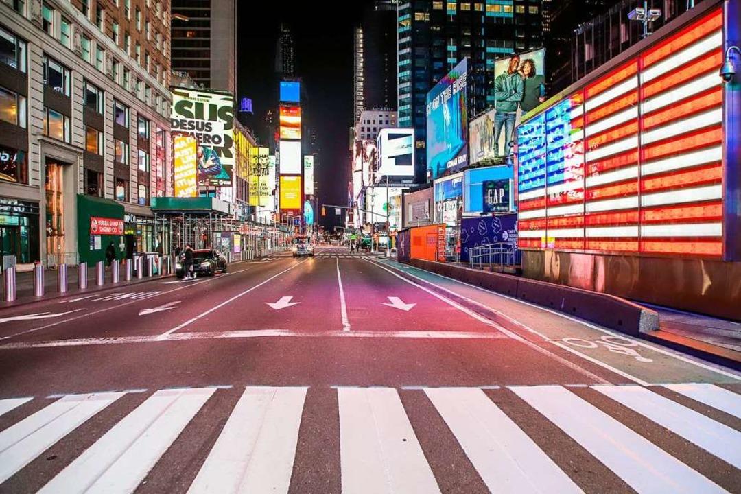 New York, fast menschenleer:  Was könnte trostloser sein?  | Foto: Vanessa Carvalho