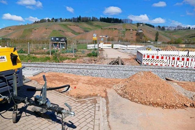 Wie steht es einen Monat nach Beginn der Bauarbeiten an der Elztalbahn?