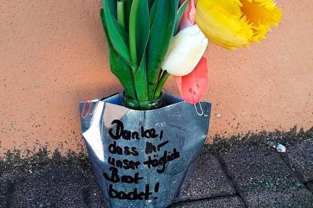Für den Bäcker in Sulzburg gibt's ein Dankeschön von Unbekannten