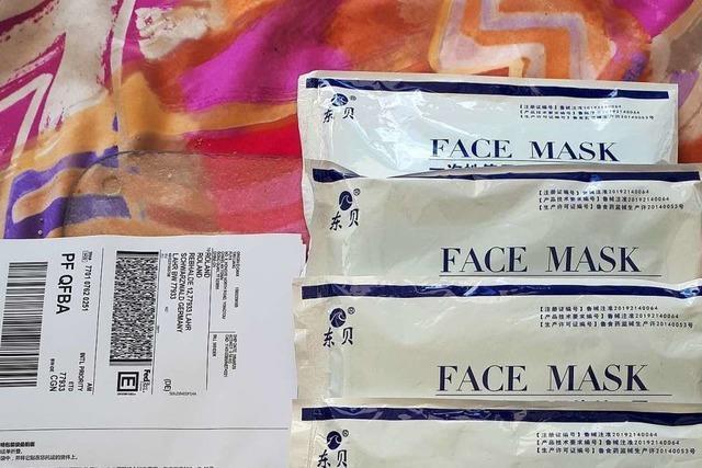 Schutzmasken-Lieferung aus China überrascht Lahrer Ehepaar