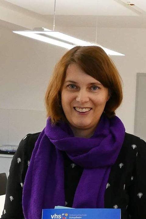 Katrin Nuiro, Leiterin der VHS Schopfheim  | Foto: Susanne Filz