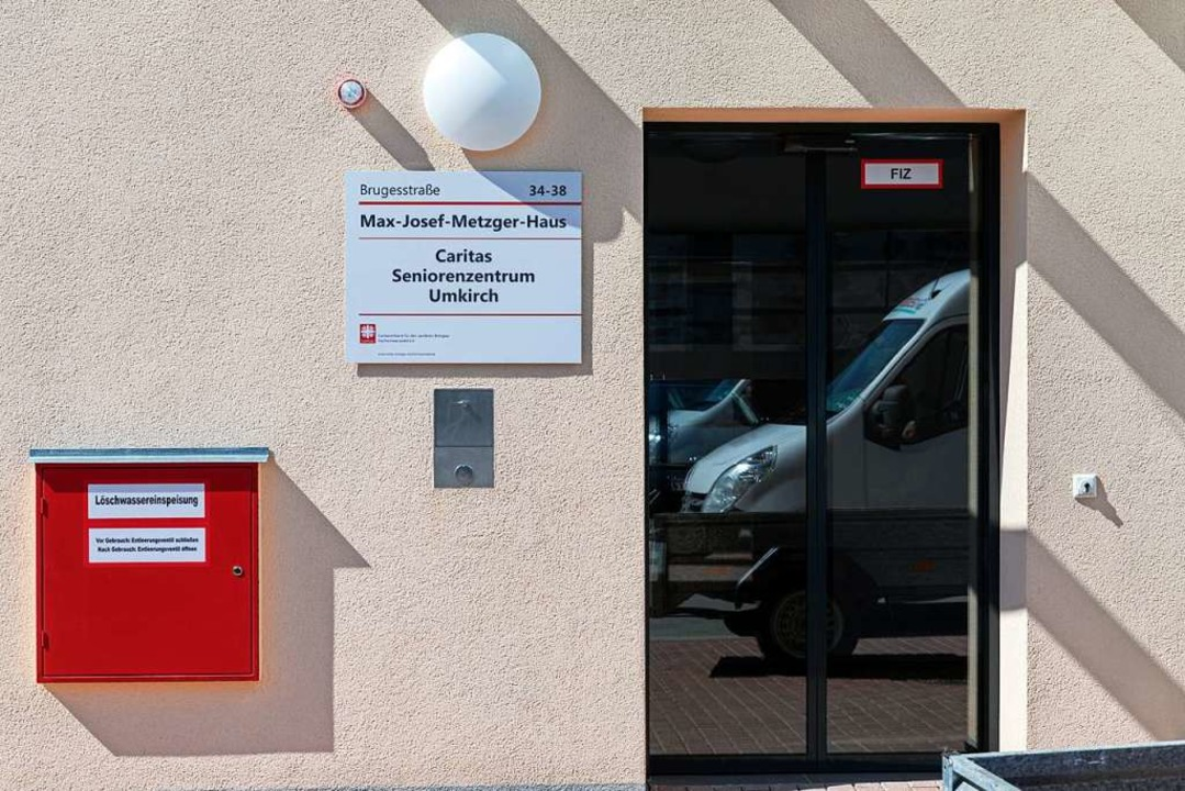 Der Eingang des Max-Josef-Metzger-Haus...uf Platz für 90 Pflegefälle ausgelegt.  | Foto: Hubert Gemmert