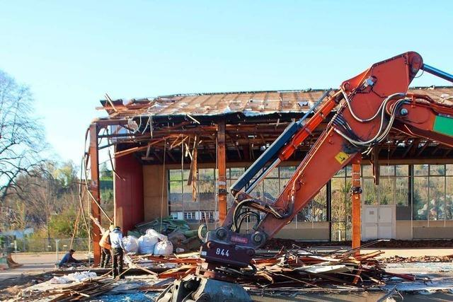 Die Münchgrundhalle in Altdorf ist abgerissen
