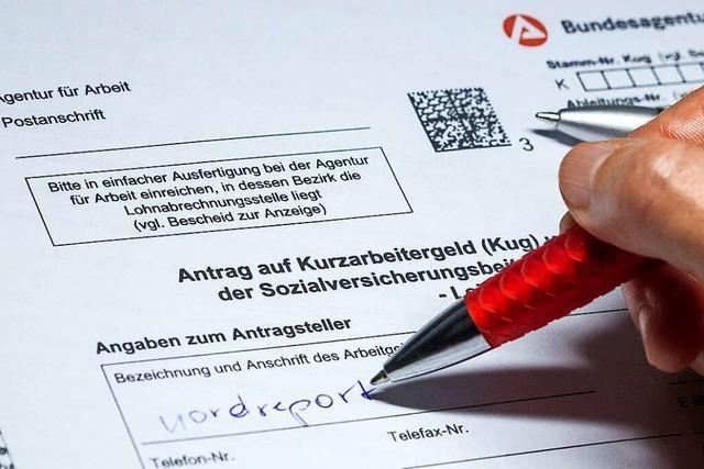 Rund 1300 Betriebe zeigen bei der Lörracher Arbeitsagentur Kurzarbeit an