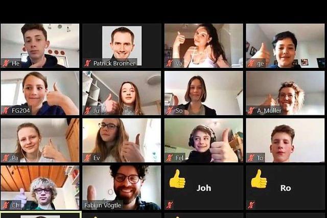 So läuft der Unterricht in einem virtuellen Klassenzimmer in Freiburg