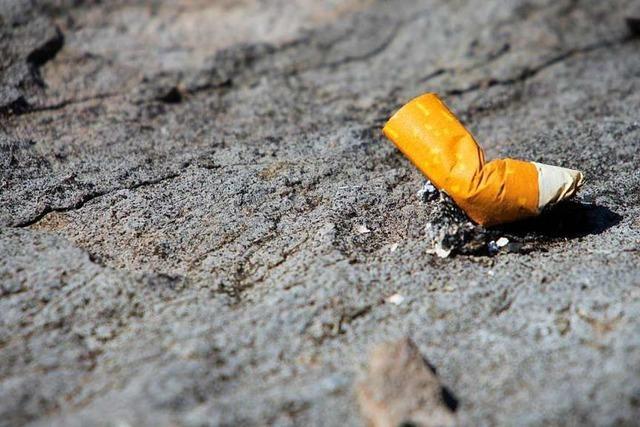 Ausgedrückte Zigarette löst Brand in Teningen aus