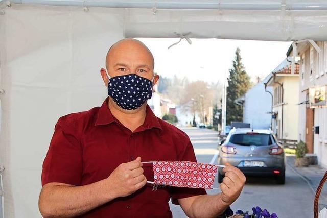 Schutzmasken für die Kunden