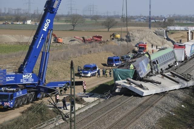 Tagelang Schienenersatzverkehr nach schwerem Zugunglück bei Auggen