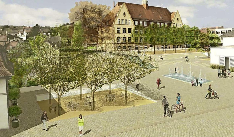 So soll die Murger Mitte ab Mai 2021 aussehen.   | Foto: Gemeinde Murg
