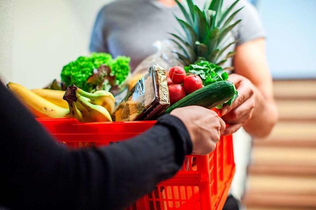 Die Einkaufshilfe in Grenzach-Wyhlen wird gerne angenommen (Symbolbild).  | Foto: Christin Klose (dpa)