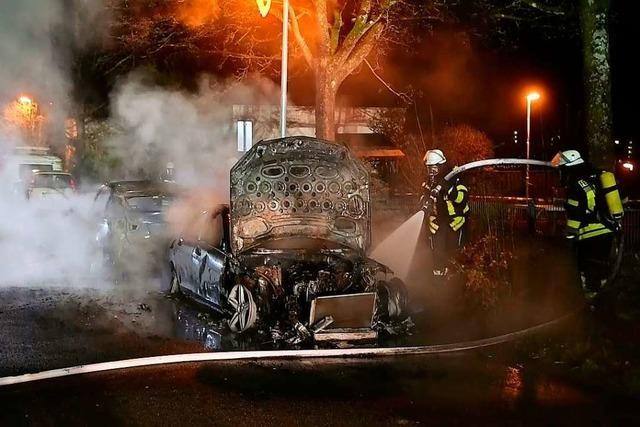 Kripo ermittelt nach Autobränden in Lahr und Friesenheim