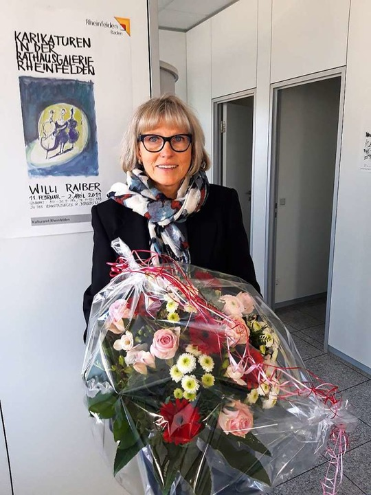 Ingrid Böhm an ihrem letzten Arbeitstag  | Foto: Verena Pichler