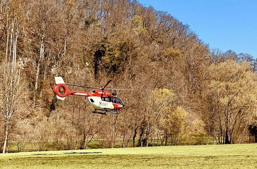 Rettungshubschrauber im Einsatz  | Foto: Feuerwehr Bad Krozingen