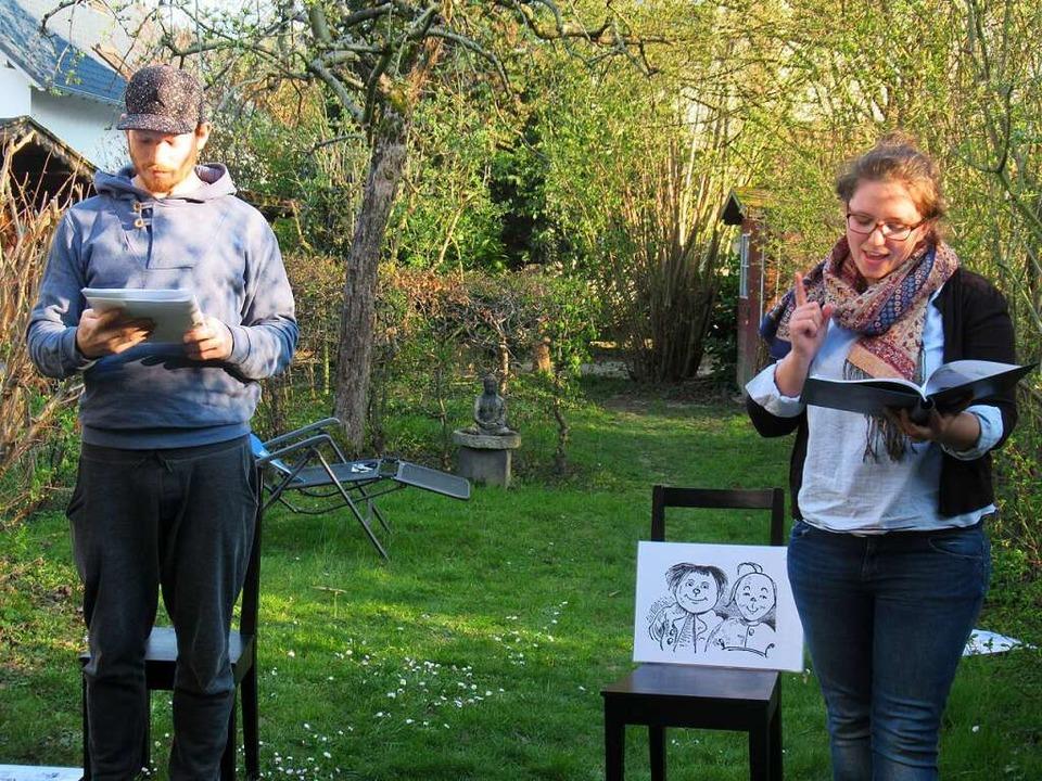 Benjamin Wendel und Florence  Herrmann...eude – in den heimischen Garten.  | Foto: Susanne Kerkovius