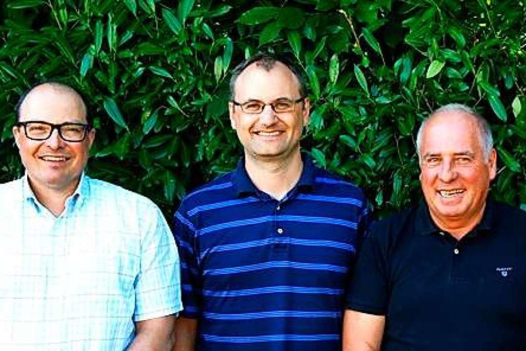 Schulleiter Carsten Schnell, sein Stel...ymnasium, Jochen Stegmaier (von links)  | Foto: Hauswirtschaftliche Schulen