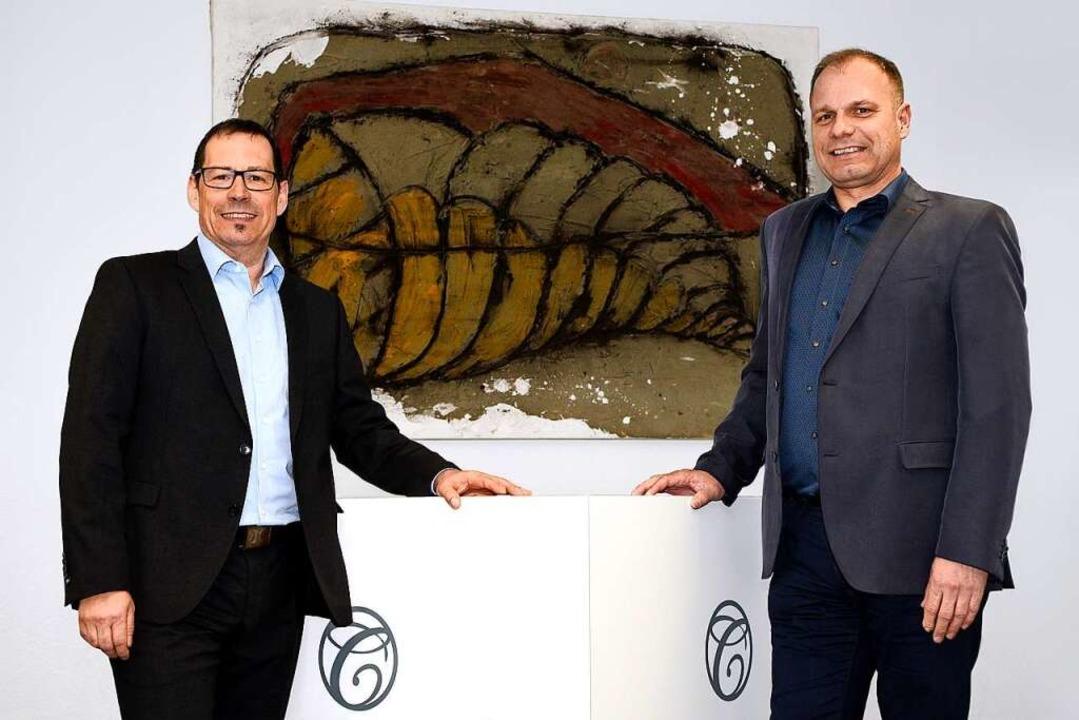 Die Contempo-Geschäftsführer Andreas Schubert (links) und Harald Koch  | Foto: Thomas Kunz