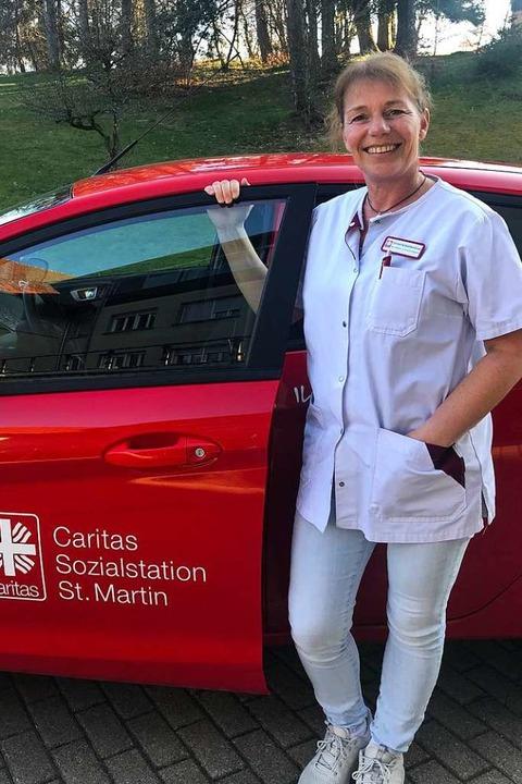 Hausbesuche bei Pflegebedürftigen  im ... Christine Kohlbrenners Arbeitsalltag.  | Foto: privat