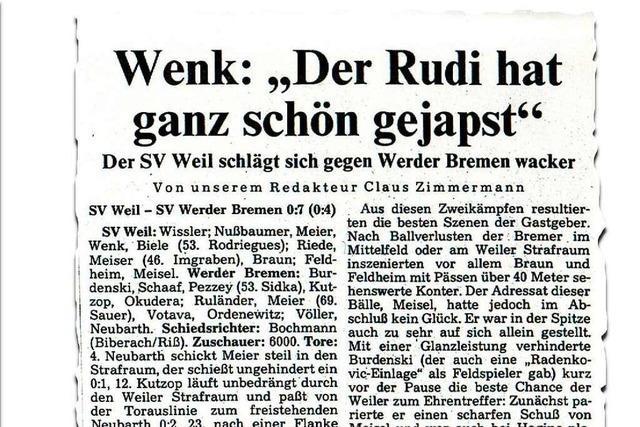 Otto Rehhagel zu Rolf Sutter: