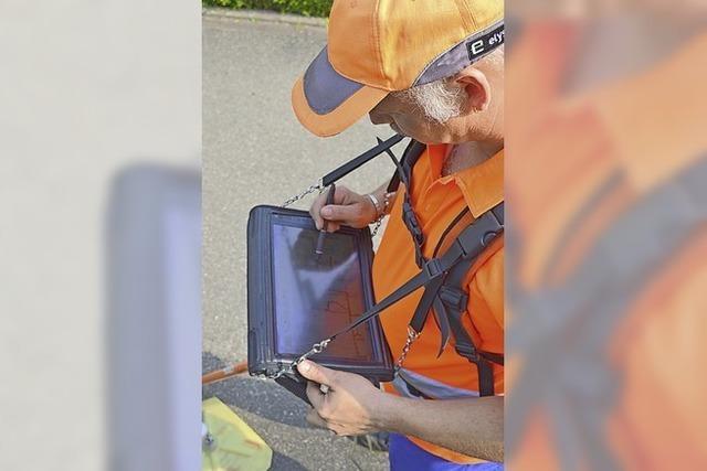 Gasspürer suchen Lecks