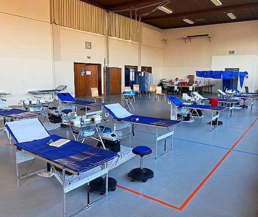 Blutspendeplatz  in der Festhalle  | Foto: DRK