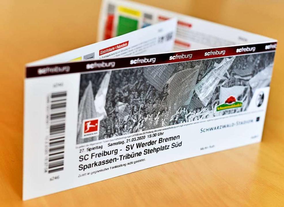 Ausgefallen:  Das Spiel des SC Freibur... der Corona-Krise nicht stattgefunden.  | Foto: Michael Bamberger
