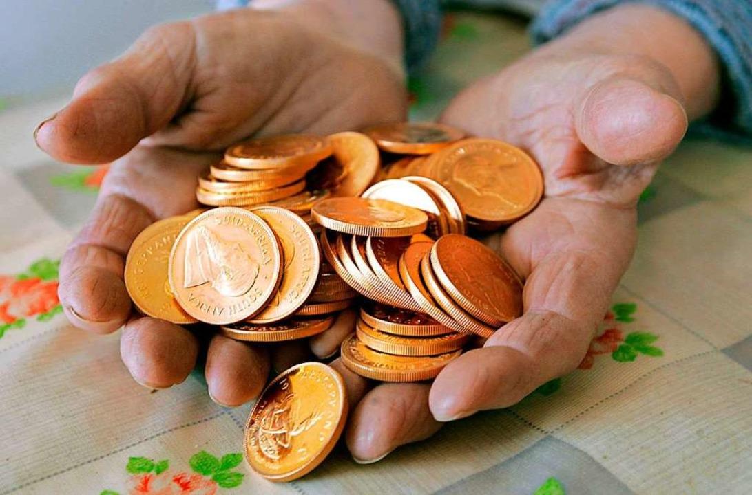 Die Münzsammlung (Symbolfoto) hatte la...i einen Wert im fünfstelligen Bereich.  | Foto:  DPA Deutsche Presse-Agentur GmbH