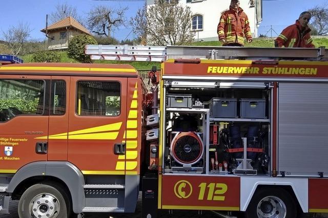 Das neue Feuerwehrfahrzeug ist eingetroffen