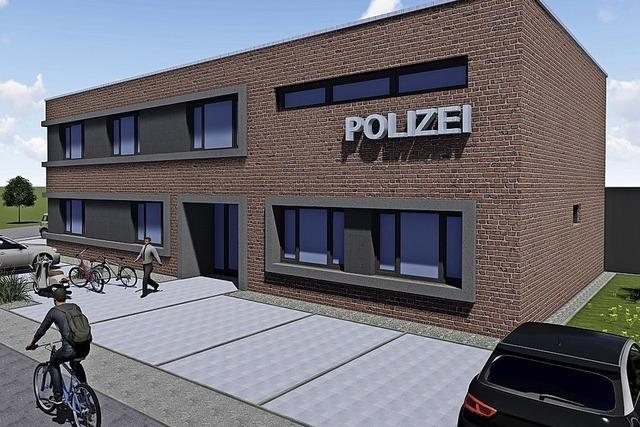 Spatenstich für den Neubau des Polizeipostens in Rust
