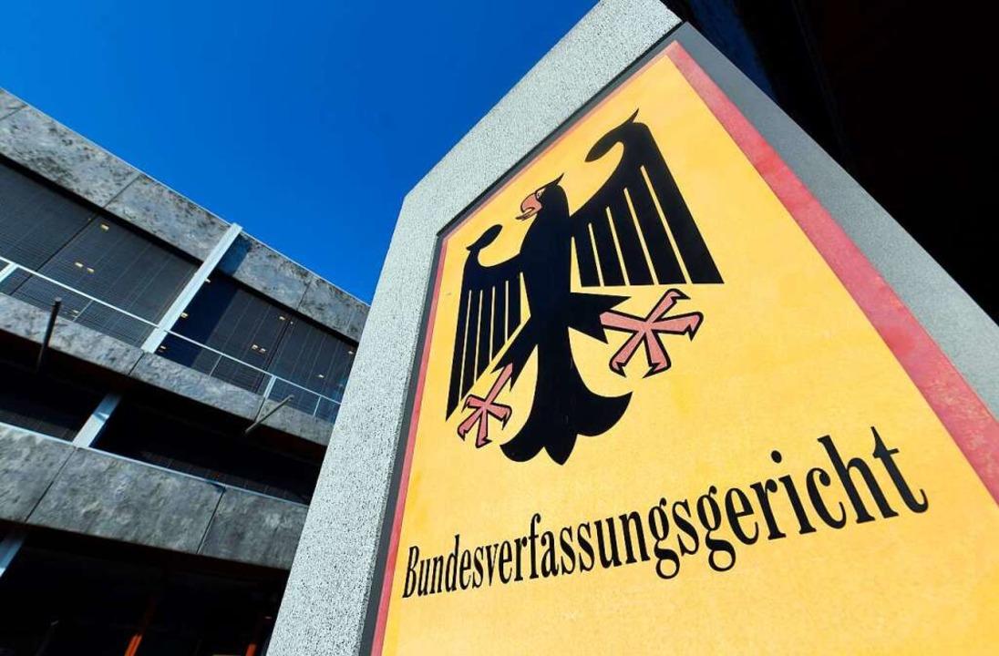 Das Bundesverfassungsgericht in Karlsruhe.    Foto: Uli Deck