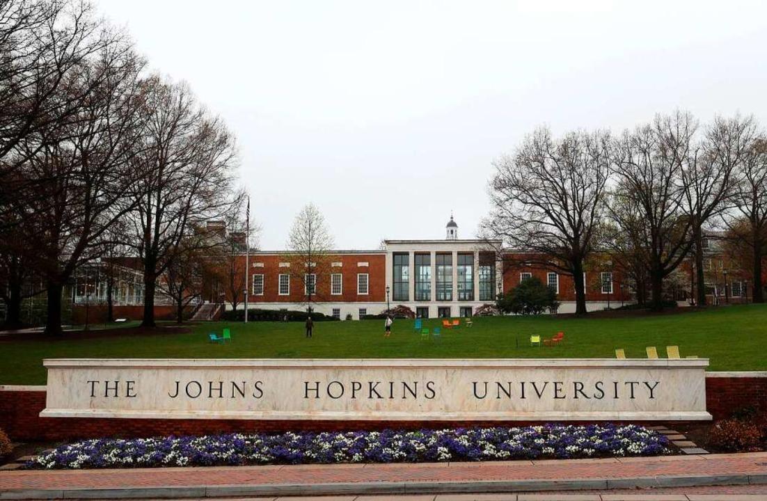 Blick auf jene Uni in Baltimore, deren Daten gerade auf allen Kanälen sind.  | Foto: Rob Carr (AFP)