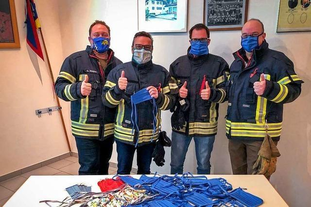 Schallstadter Frauen nähen 300 Masken für die Feuerwehr
